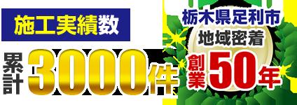 栃木県足利市地域密着 創業47年 塗装実績3,000件