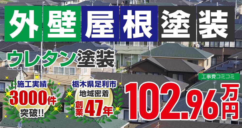 お得な外壁屋根塗装Wパック塗装 1029600万円