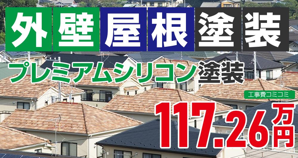 お得な外壁屋根塗装Wパック塗装 1172600万円