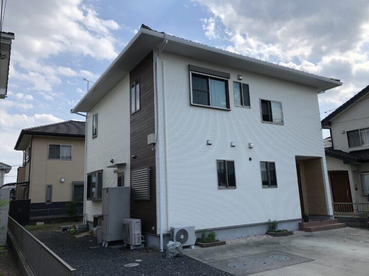 栃木県足利市 M様邸 外壁一部張替え、外壁塗装、ルーバー設置等